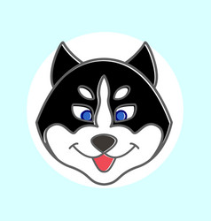 banner muzzle dog vector image