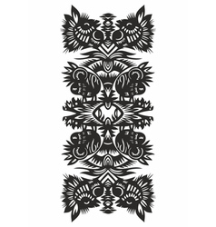 black decor vector image vector image