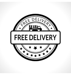 Black stamp with the text free delivery fast vector
