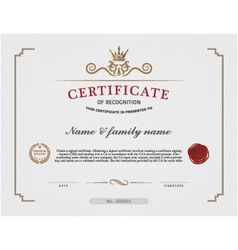 certificate template and background templat vector image vector image