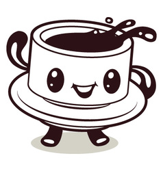 coffee cup cartoon vector image