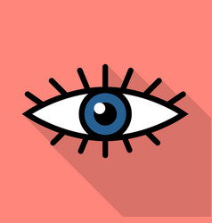 eye icon colored vector image vector image