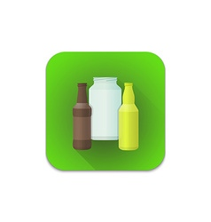 glass recycle waste icon vector image