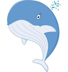 Happy whale cartoon vector