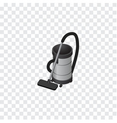 Isolated vacuum cleaner isometric vac vector