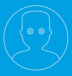 Man face with wide eyed icon outline style vector