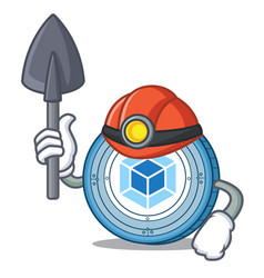 Miner webpack coin mascot cartoon vector