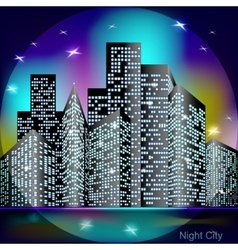 Night city light vector image vector image