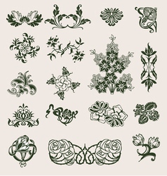 Ornament flower style vector