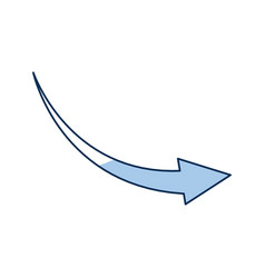 Outlined arrow direction web symbol reload icon vector