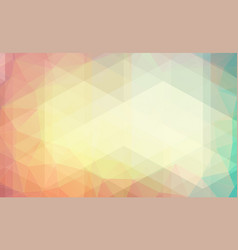 pastel color background with triangle shapes vector image