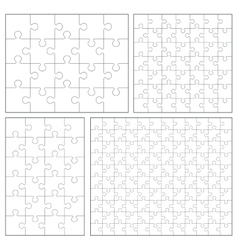 Puzzle set 20 24 49 120 pieces vector image vector image