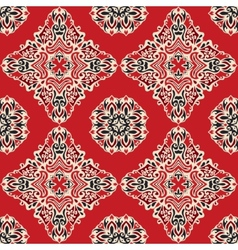 Red ethnic abstract seamless pattern vector