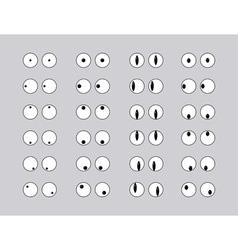 Set of eye emoticon vector image