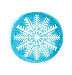 Snowflake greeting card vector image