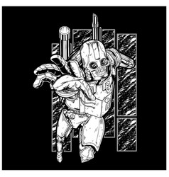steampunk robot vector image