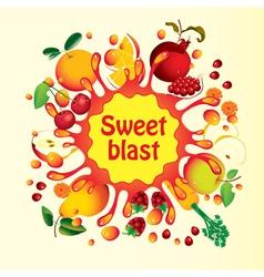 sweet blast vector image