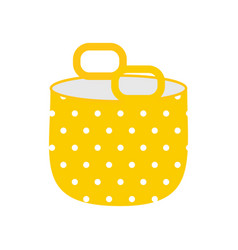 Textile bag icon vector