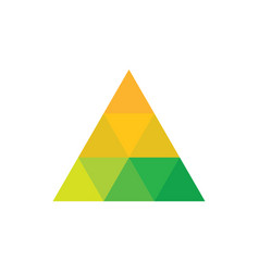 Triangle colored logo image vector
