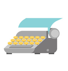 typewriter with paper sheet vector image vector image