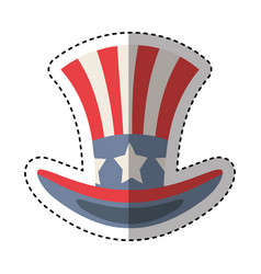 United states of america hat emblem vector