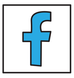 unusual look facebook logotype social network vector image