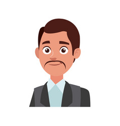 Young and successful business man cartoon employee vector