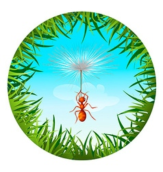 Ant in the sky vector