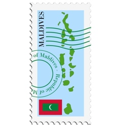 Mail to-from maldives vector