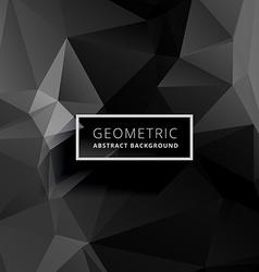 dark geometric polygonal background vector image