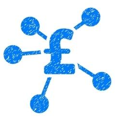 Pound distribution grainy texture icon vector
