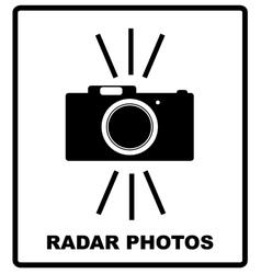 Speed road radar icon notice traffic symbol vector
