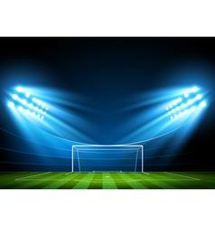 Soccer arena stadium vector image