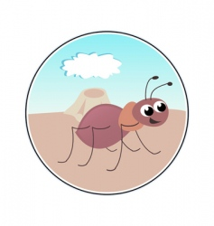 funny ant vector image