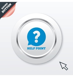 Help point sign icon question symbol vector