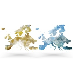 Europe map template triangle design vector