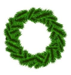 Christmas fir-tree wreath vector