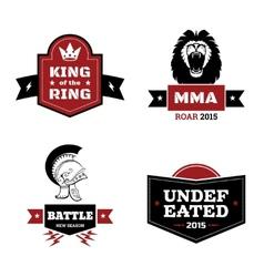 Martial arts logo set vector image