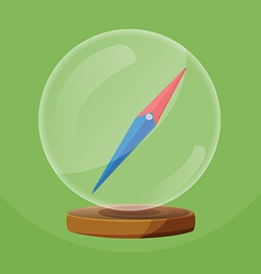 Compass glass round object navigator vector