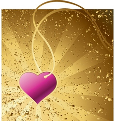 heart gold vector image