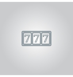 Simple icon 777 vector