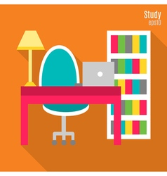 Study in flat style vector