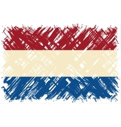 Dutch grunge flag vector