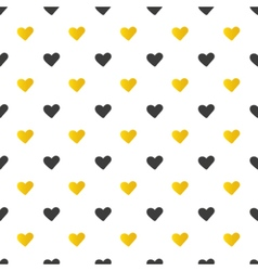 Golden and black hearts seamless pattern vector