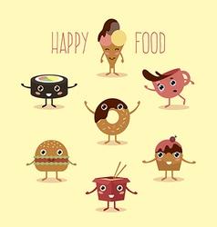 Happy food vector