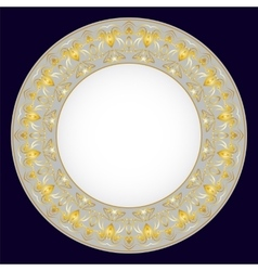 gold oriental tray vector image