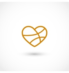 Basketball heart vector image