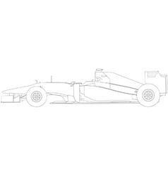 Racing car vector image