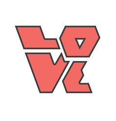 Word love sharp vector
