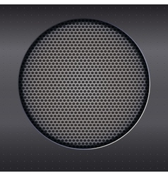 Background with speakers metal mesh vector